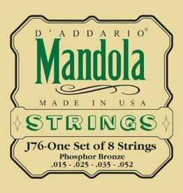 Daddario D'Addario EJ76 Phosphor Bronze Mandola Strings - Medium, 15-52