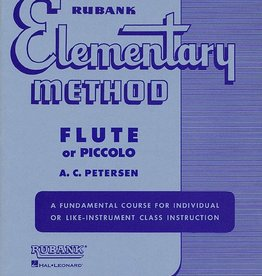 Hal Leonard Rubank Elementary Method - Flute or Piccolo edited by A.C. Peterson Elementary Method