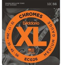 Daddario D'Addario ECG26 Chromes Flat Wound, Medium, 13-56