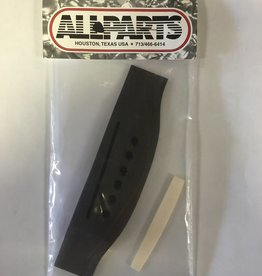 Allparts Allparts Acoustic Bridge - Ebony w/ Saddle