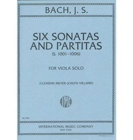 International Music Company Bach, JS - 6 Sonatas and Partitas for Viola - Arranged by Meyer-Vieland - International Edition