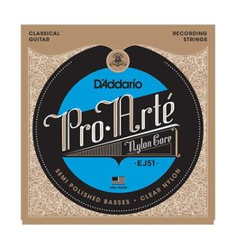 Daddario D'Addario EJ51 Pro-Arté with Polished Basses, Hard Tension Classical Guitar Strings