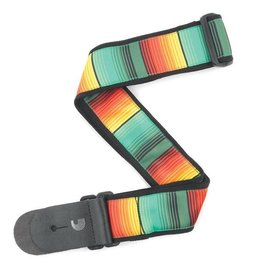 "Daddario Planet Waves 2"" Guitar Strap, Latin Blanket Stripe - Jamaica"
