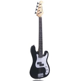 J. Reynolds J. Reynolds JR9B 7/8 Size Electric Bass Guitar, Black