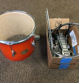 Borg (used) Borg MD 900 Tom w/ box of misc. drum hardware