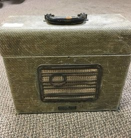 (used) Vintage Projector Case Tube Amp w/ electric voice speaker