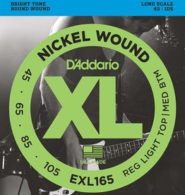 Daddario D'Addario EXL165 Nickel Wound Bass Strings, Custom Light, 45-105, Long Scale
