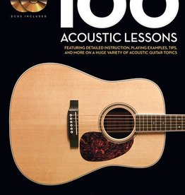 Hal Leonard 100 Acoustic Lessons Guitar Lesson Goldmine Series by Chad Johnson and Michael Mueller Guitar Lesson Goldmine Series Guitar Educational