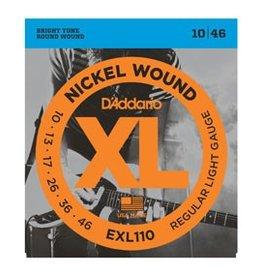 Daddario D'Addario EXL110 Nickel Wound Electric Guitar Strings, Regular Light, 10-46