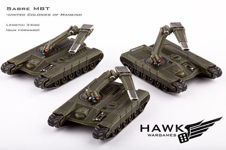 Hawk Wargames Dropzone Commander: UCM - Sabre Main Battle Tanks