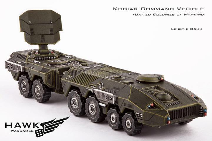 Hawk Wargames Dropzone Commander: UCM - Kodiak Armoured Command Vehicle