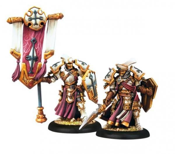 Privateer Press Warmachine: Protectorate: Exemplar Errant Officer & Standard Bearer