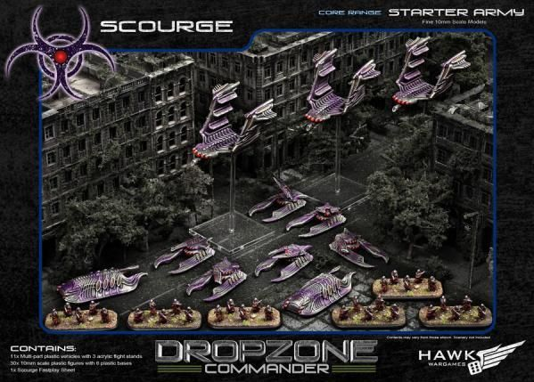 Hawk Wargames Dropzone Commander: Scourge - Premium Army Starter with KR Case