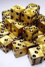 Koplow Games Koplow RPG Dice Sets: Gold/Black Olympic 12mm (100)