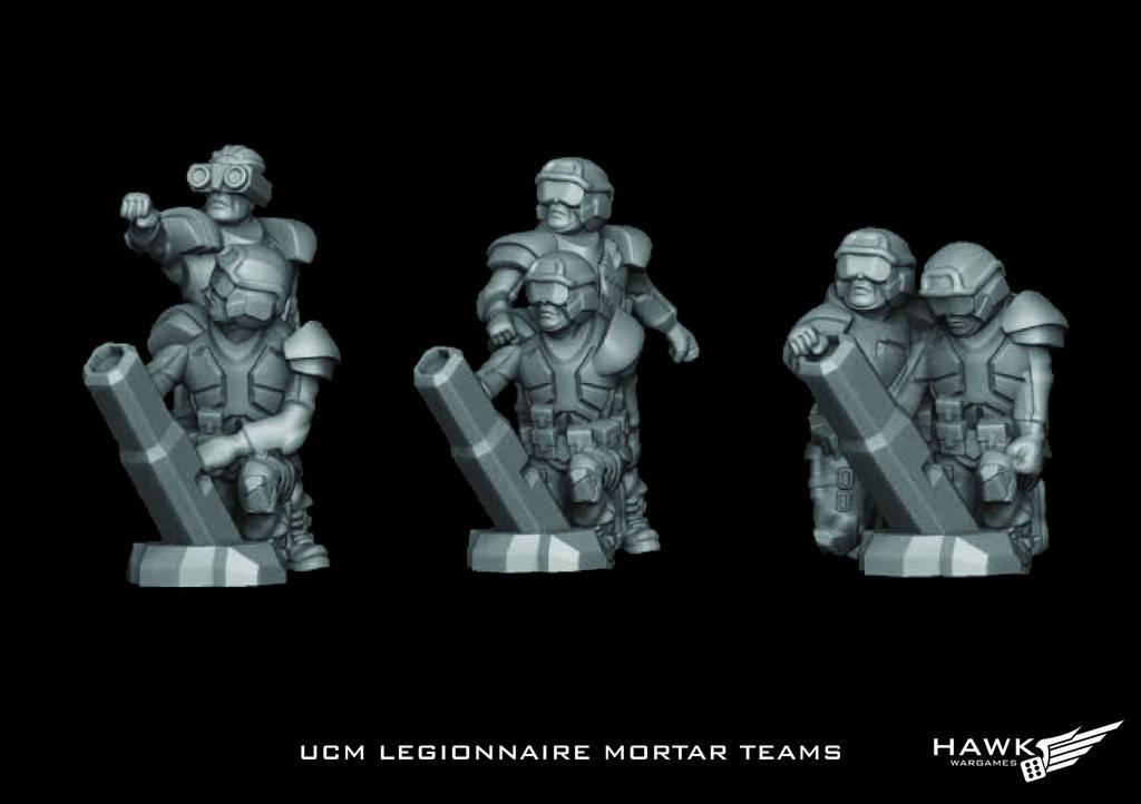 Hawk Wargames Dropzone Commander: UCM - Legionnaire Mortar Teams
