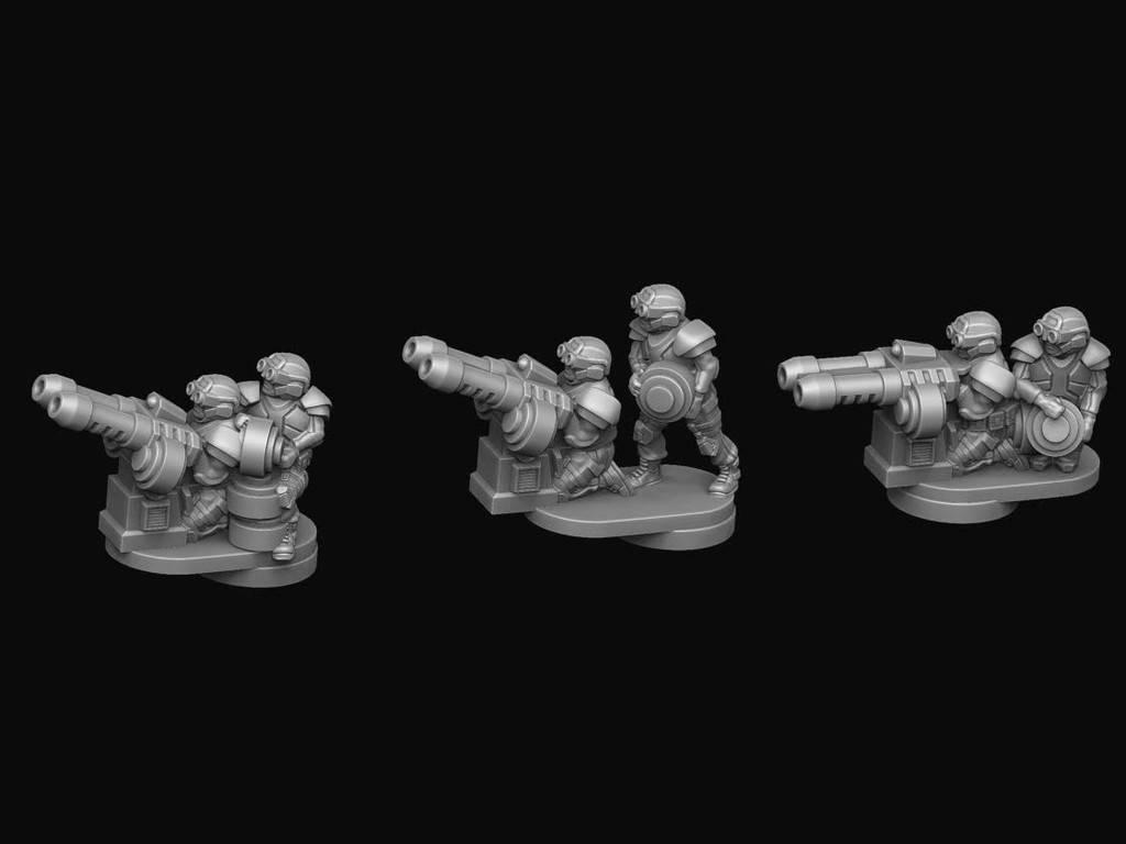 Hawk Wargames Dropzone Commander: UCM - Legionnaire Flak Teams