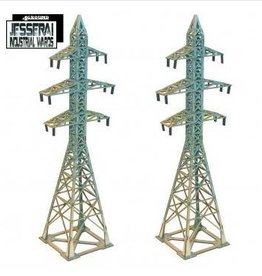 4Ground Miniatures 10mm Standard Terrain: 2x Pylons