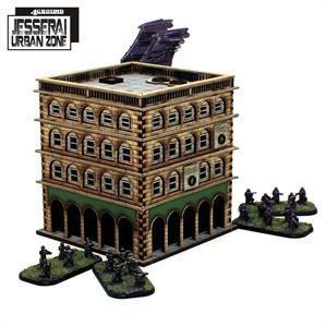 4Ground Miniatures 10mm Standard Terrain: District XXII Hab-Block 1