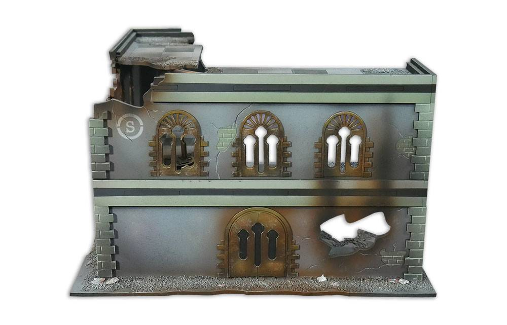 Frontline Gaming ITC Terrain Series: Battle Damaged Urban L Building