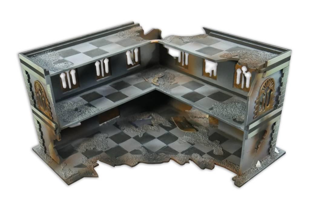 Frontline Gaming ITC Terrain Series: Battle Damaged Urban L Building