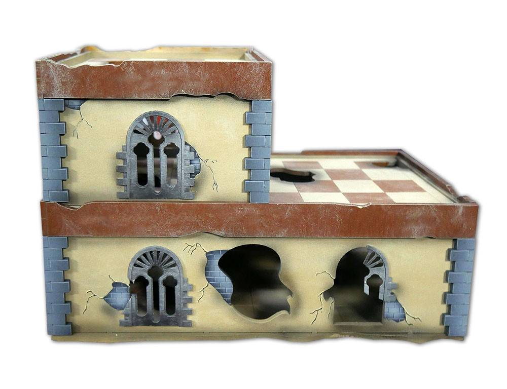Frontline Gaming ITC Terrain Series: ITC Standard Damaged Urban Set With Mat