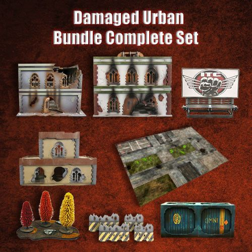 Frontline Gaming ITC Terrain Series: Damaged Urban Complete Set