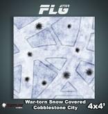 Frontline Gaming FLG Mats: War-torn Snow Covered Cobblestone City 1 4x4'