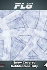 Frontline Gaming FLG Mats: Snow Covered Cobblestone City 1 4x4'