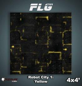 Frontline Gaming FLG Mats: Robot City 1: Yellow 4x4'