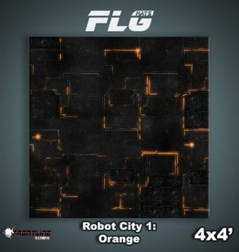 Frontline Gaming FLG Mats: Robot City 1: Orange 4x4'