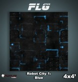 Frontline Gaming FLG Mats: Robot City 1: Blue 4x4'