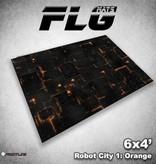 Frontline Gaming FLG Mats: Robot City 1: Orange 6x4