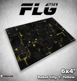 Frontline Gaming FLG Mats: Robot City 1: Yellow 6x4