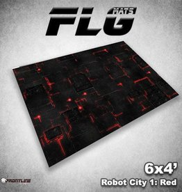 Frontline Gaming FLG Mats: Robot City 1: Red 6x4