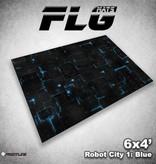 Frontline Gaming FLG Mats: Robot City 1: Blue 6x4