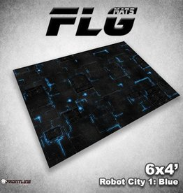 Frontline Gaming FLG Mats: Robot City 1: Blue 6x4