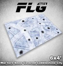 Frontline Gaming FLG Mats: War-torn Snow Covered Cobblestone City 1 6x4