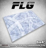 Frontline Gaming FLG Mats: Snow Covered Cobblestone City 1 6x4