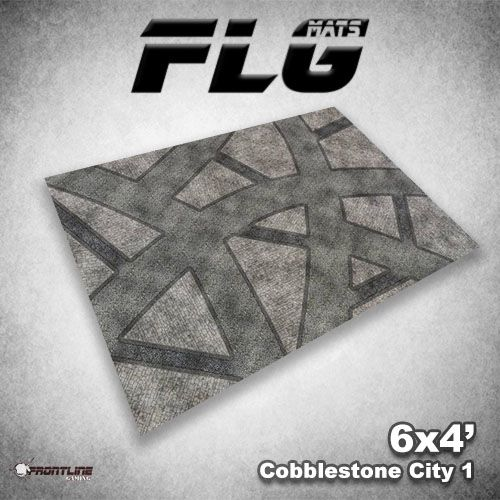 Frontline Gaming FLG Mats: Cobblestone City 1 6x4