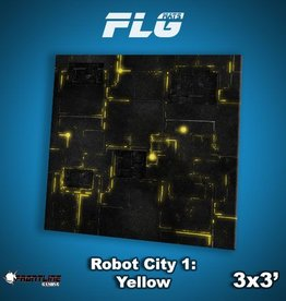 Frontline Gaming FLG Mats: Robot City 1: Yellow 3x3'