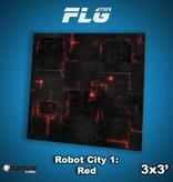 Frontline Gaming FLG Mats: Robot City 1: Red 3x3'