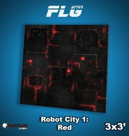 Frontline Gaming FLG Mats: Robot City 1: Red 3x3'