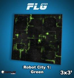 Frontline Gaming FLG Mats: Robot City 1: Green 3x3'