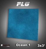 Frontline Gaming FLG Mats: Ocean 1 3x3'