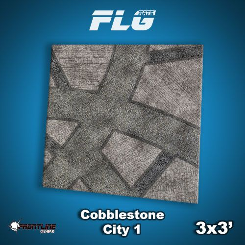 Frontline Gaming FLG Mats: Cobblestone City 1 3x3'