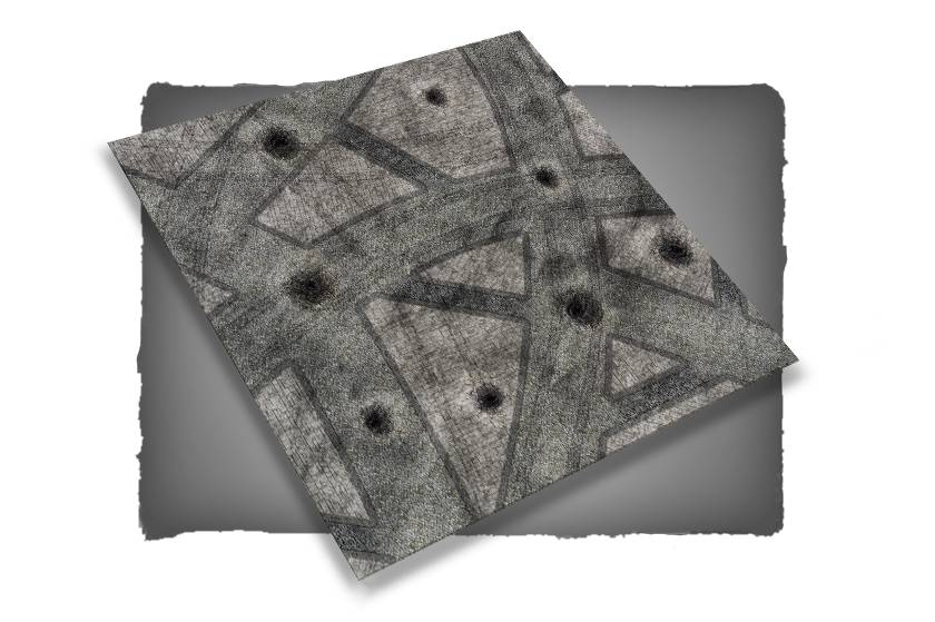 Frontline Gaming FLG Mats: War-torn Cobblestone City 1 4x4'