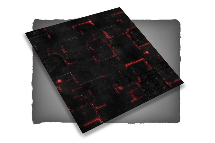 Frontline Gaming FLG Mats: Robot City 1: Red 4x4'