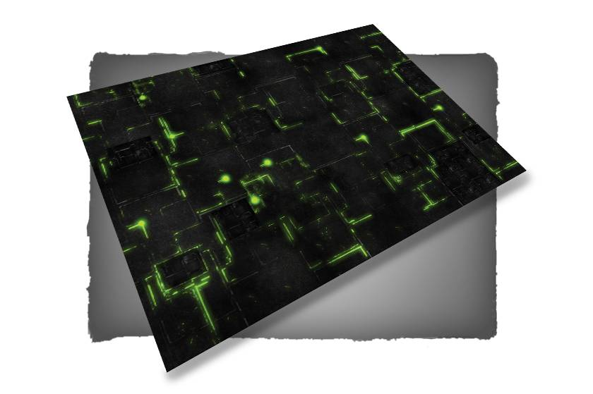 Frontline Gaming FLG Mats: Robot City 1: Green 6x4'