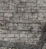 Frontline Gaming FLG Mats: War-torn Cobblestone City 1 3x3'