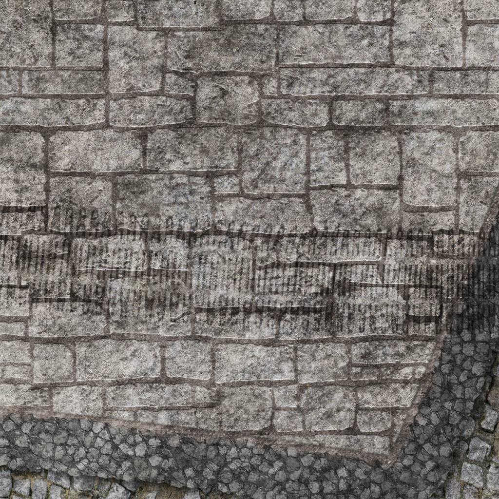 Frontline Gaming FLG Mats: War-torn Cobblestone City 1 4x4'